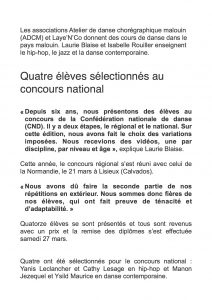 Article Ouest france CND 21 2