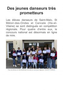 Article Ouest france CND 21